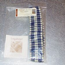 Longaberger Blue Ribbon Plaid Small Garter ~ New in Original Longaberger Bag!