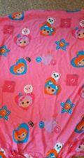 Lalaloopsy MGA Girls Twin Size Fitted Sheet Polka Dot Pink Lalaloopsy Dolls