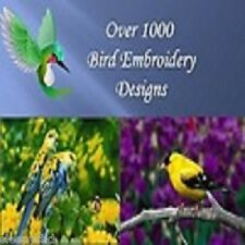 1200 Bird  Embroidery Machine Designs Brother Baby Lock PES Format