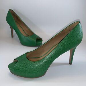 Nine West Green Peep Toe Stiletto Heel  Platform 12 M