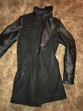 Rogue State NYC Faux Leather Trench Coat Topcoat Medium