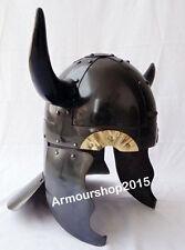 Viking Barbarian Warrior Helmet - Medieval Costume Armor with Horns HELMET