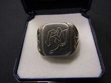 800er Silber Herrenring antik Große 61 Ringkopf 16c18mm Gewicht 6,83 Gramm