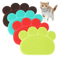 Pets Dog Puppy Cat Feeding Mat Pad Bed Dog Dish Bowl Food Water Feed Place Mats