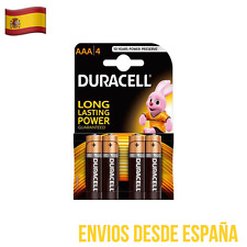 4 Pilas DURACELL Plus Power AAA LR03 MN2400 Batería Alkalina Long Lasting Power