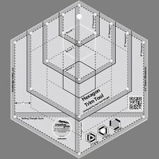 Hexagon Trim Tool, Non-Slip Quilt Ruler from Creative Grids, #CGRJAW4