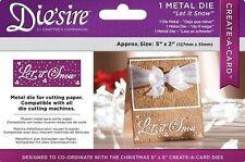 """NEW Diesire 5"""" x 2"""" Create a Card - 'Let it Snow' Christmas Die 🎄"""