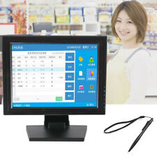 """High Res USB 15"""" Inch LCD Touch Screen Monitor VGA HDMI Stand Touch Screen POS"""