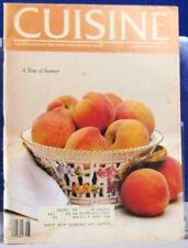 CUISINE Magazine A Taste Of Summer SEAFOOD On the Grill Jul/Aug 1981