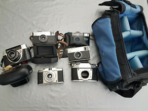 Konvolut diverser Kameras Kodak AGFA Vivitar Tasche etc. (LMK21)
