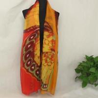AIP Vintage Elegant Wrap Silk Chiffon Butterfly Scarf  Printed Long Shawl07