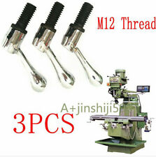 3pcs Bridgeport Parts Head Milling Machine Table Lock Bolt Handle M12 Thread