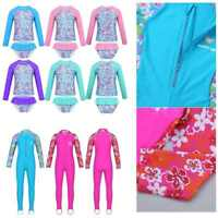 Girls Swimwear Rash Guard UV Protection Swimsuit Mermaid Bathing Suits Beachwear
