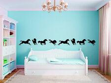 "Horse Border Vinyl Wall Decal Graphics Nursery Kids Bedroom Home Decor 6"" Tall"