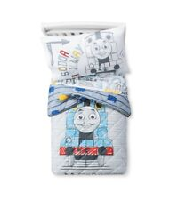New **Thomas & Friends 4 Piece Toddler Bedding Set** Gray