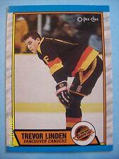 1989-90 O-Pee-Chee # 89 Trevor Linden Vintage Rookie Card!  N/MT or Better!
