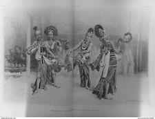 1889 I 6/7 Ausstellung Universelle Tänzer Javanese Kostüm Tracht