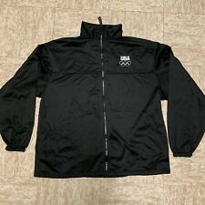 United States Olympic Committee Team USA Track Jacket Black Size 3XL