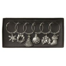 Heaven Sends Pewter and crystal christmas wine charms, christmas decoration, Bar