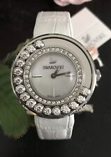 Swarovski Women's 1160308 Lovely Crystal Watch White Band NWT! Hard to Find!!