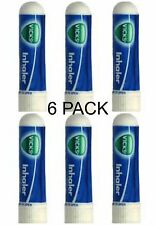 6 x .5ml Vicks Inhaler Allergy Cold Nasal Blocked Nose Relief Congestion USA SLR