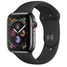 Apple Watch Series 4 44mm Space Grey Black Sport Straps GPS Cellular Model