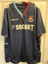 2012/2013 West Ham United away football shirt Hammers XXL men's Umbro SBOBET 2XL