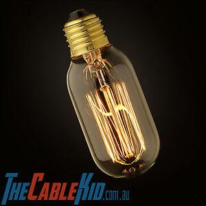 1x Edison Antique Vintage Bulb 25W Oval Barrel Industrial Globe E27 & B22