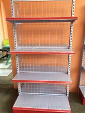 Double sided gondola racks for grocery business