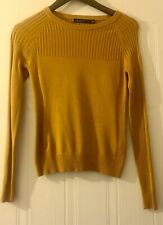 Karen Millen Mustard Knitted Top Sweater Size S