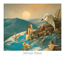 Michael Parkes Dragon Fly Fantasy Dragonfly Magical Weird Odd Poster 31.5x27.5