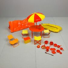 Vintage 1970 BARBIE CAMPING PLAYSET LOT Table With Umbrella Tent HTF RARE Red & vintage umbrella tent | eBay