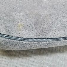 SHARPER IMAGE * NECK PILLOW * memory foam gray zip cover travel airplane car