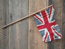 Antique Vintage Union Jack Flag Wooden Stick Village Fete Party British Made M