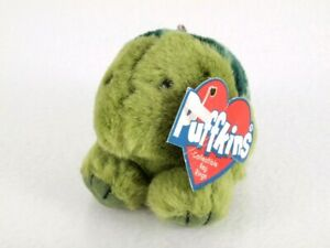 Puffkins Collectible Plush Keychain Key Ring SHELLY Green Turtle Tortoise