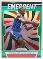 Mfiondu Kabengele RC 2019-20 Panini Green Prizm Emergent Rookie Card 22 Clippers