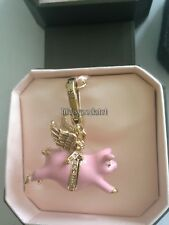 BRAND NEW! JUICY COUTURE WHEN PIGS FLY BRACELET CHARM IN TAGGED BOX