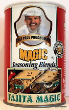 Largest Chef Paul Prudhomme Fajita Magic Spice Southern Mexican 24OZ