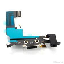 For iPhone 5S Black Charging USB Dock Port  Audio Jack Connector Flex - #194836