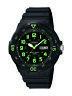 Casio Men's Quartz 'Dive Style' Green Index Black Resin 45mm Watch MRW200H-3BV