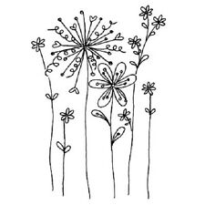 PENNY BLACK RUBBER STAMPS WINSOME FLOWER NEW wood STAMP