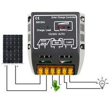 20A 12V/24V Solar Panel Charge Controller Battery Regulator Safe Protection NW