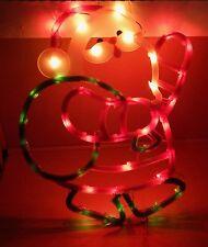 "Christmas Instant Decor Lighted Santa 43 Mini Lights Suction Cup 17"" x 16"" 93N"