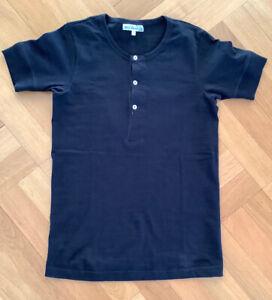 MERZ B SCHWANEN 5 / 38 Damen Loopwheeled Henley Shirt Black neuwertig