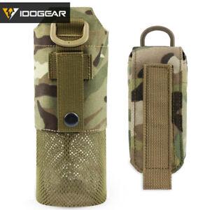 IDOGEAR Tactical Folding Bottle Pouch Canteen Bag Water Kettle Holder Camping