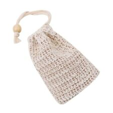 Hanging Saver Pouch Soap Bag Mesh Wooden Beads 1Pc Blister Shower Foaming Net
