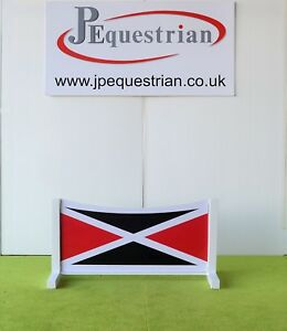 Black and Red Flag Show jump Filler-For Showjumping