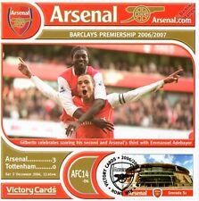 Arsenal 2006-07 Tottenham (Gilberto & Adebayor) Football Stamp Victory Card #614
