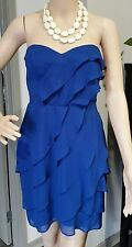 PILGRIM DRESS 10  Worn once STRAPLESS COCKTAIL Royal blue