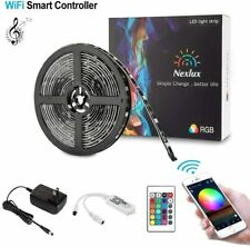 Nexlux LED Strip Lights, WiFi Wireless Smart Phone Controlled 16.4ft Waterproof